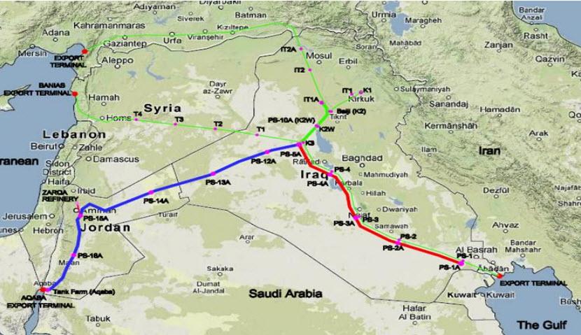 SCOP_Iraq_Jordan_Strategic_Crude_Oil_Export_Pipeline_Infrastructure_Project_Map