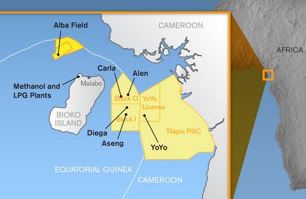Marathon-Noble_Alba_B3_Compression_Platform_Equatorial-Guinea_Map