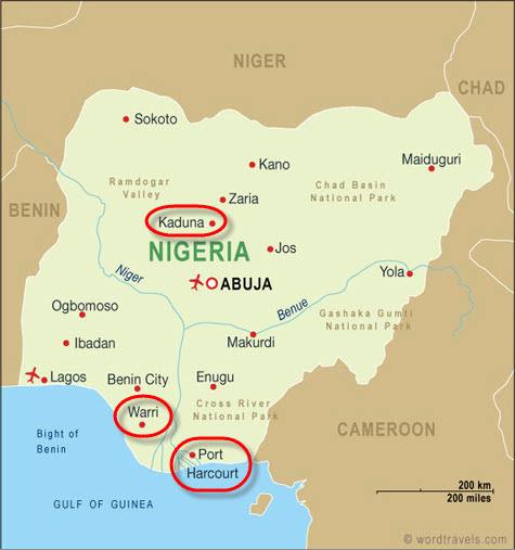 Nigeria_NPCC_Refineries_map