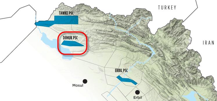 DNO_Genel_Block_Bohuk_Summail_Gas_Field_Map