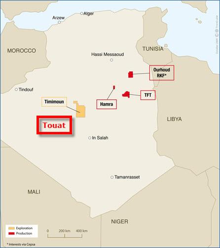 GDF-Suez_Sonatrach_Touat_Gas_Project_Map