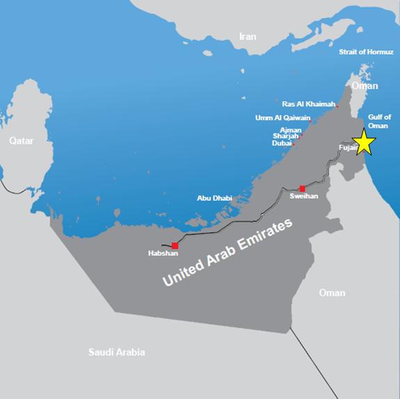 IPIC_Technip_Fujairah_Refinery_map