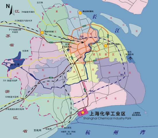 Invista_Shanghai_Chemical_Industrial_Park_Map