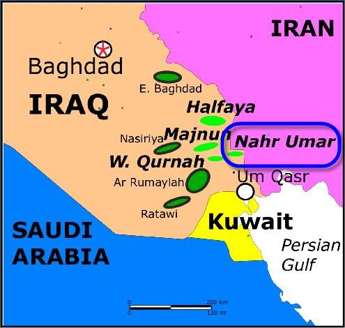 SCOP_Iraq_Bin-Umar_Nasiriyah_Oil_Storage_Tanks_Project_Map
