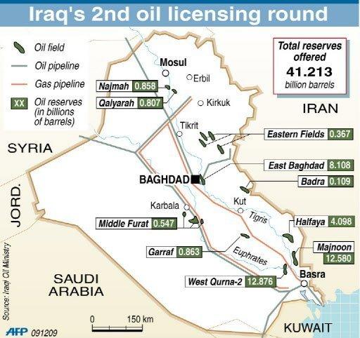 Petronas_Japex_National-Oil-Company_Garraf_Badra_Oil_fields_map