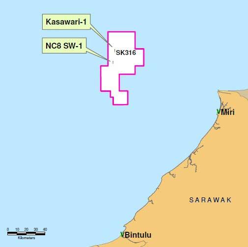 Petronas_Sarawak_Block-SK316-Kasawari_Platform_Competitive-FEED_Map