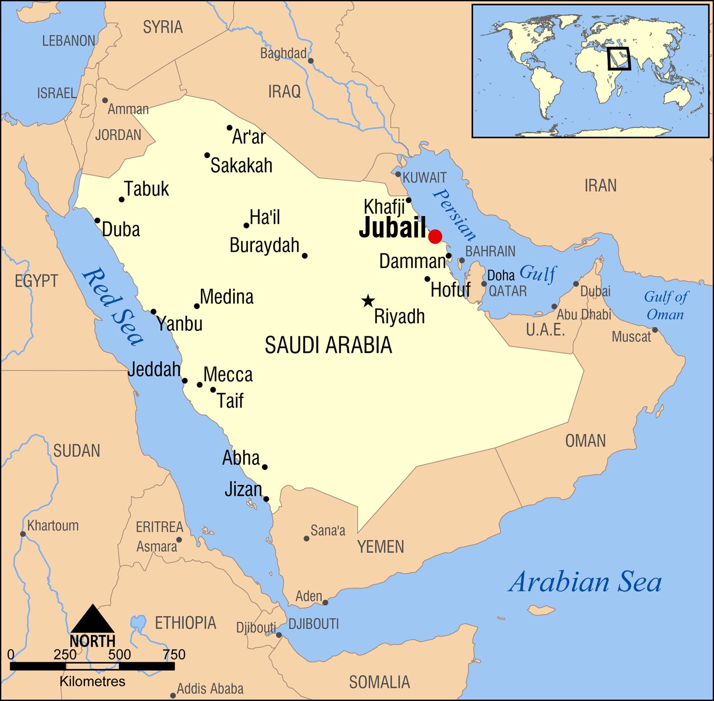 SABIC_Shell_Sadaf_Polyurethan_Al-Jubail_Expansion_KBR_FEED_Map