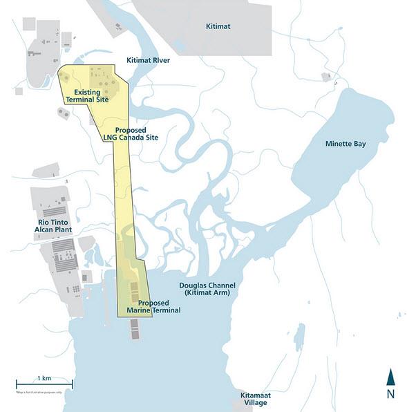 Shell-PetroChina-Kogas-Mitsubishi_LNG-Canada_Kitimat_Map