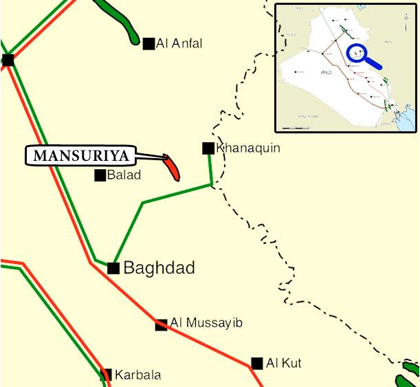 TPAO_Iraq_Mansuriya_Gas-Treatment-Project_Map