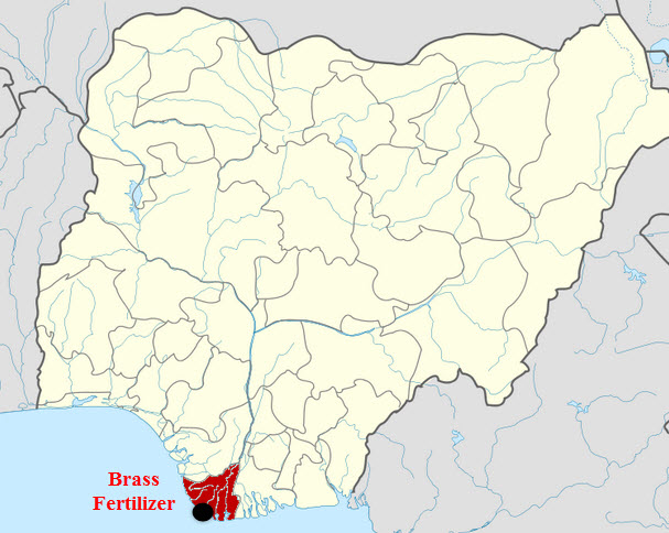 Brass_Fertilizer_Methanol_Urea_Nigeria_Project_Map
