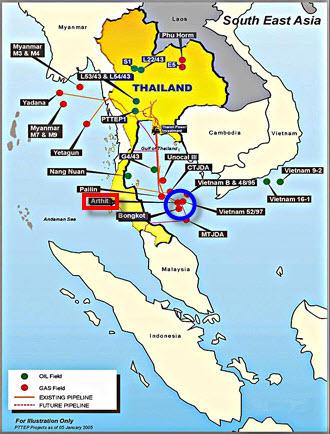 PTTEP_Arthit_Wellhead_Bundled_Platforms_Thailand_Map