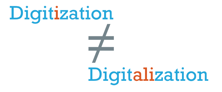 Digitization or digitalization