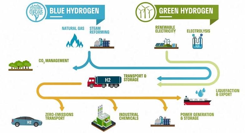 Blue Hydrogen versus Green Hydrogen
